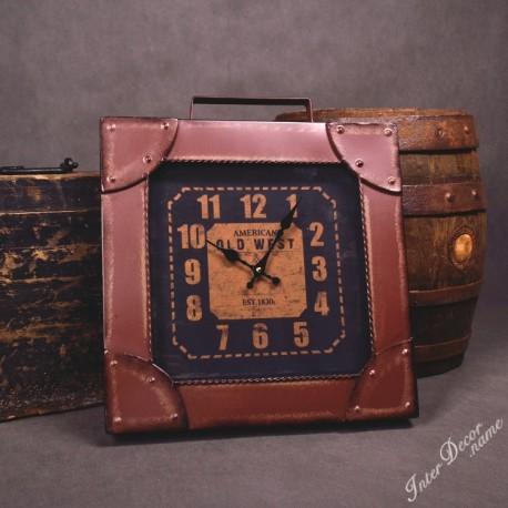 InterDecor Retro hodiny • Kufr American Old West Barva hnědá