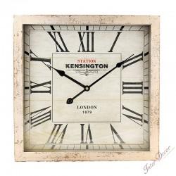 Nástěnné hodiny Kensington station • bílá