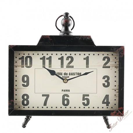 Stolní hodiny Galeri du Gaston Raspail • tmavě hnědá