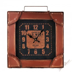 Retro clock • Kufr American Old West