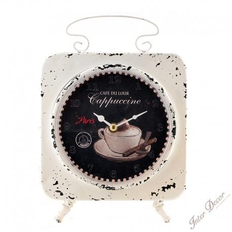 Oboustranné hodiny Cappuccine Barva bílá