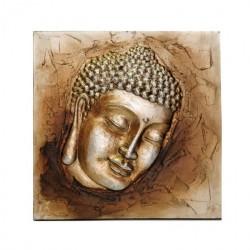 Hlava Buddha • obraz z profilu